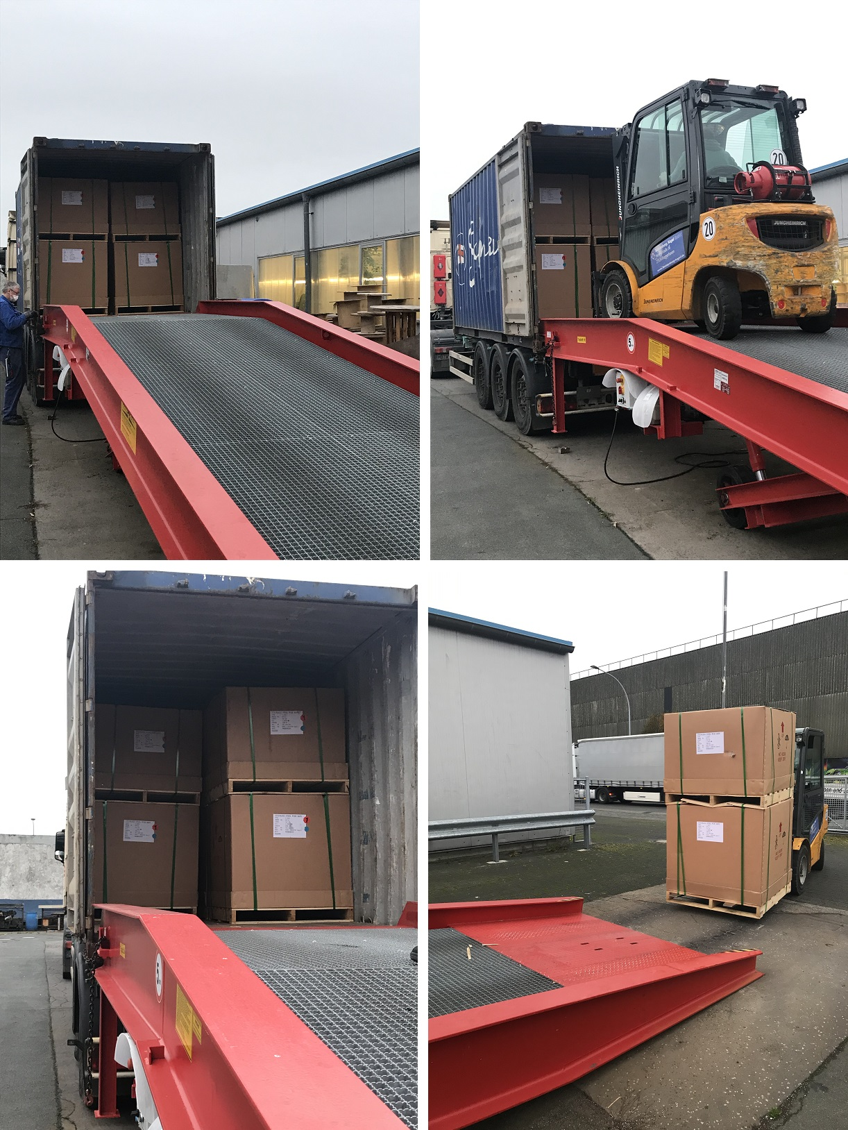 Container-Lieferung